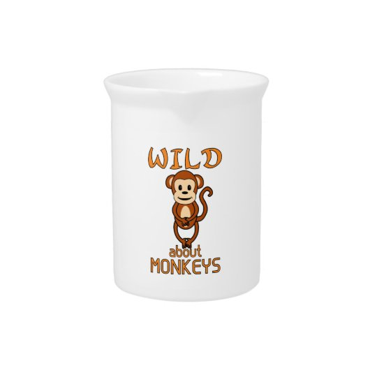 Wild About Monkeys Drink Pitchers