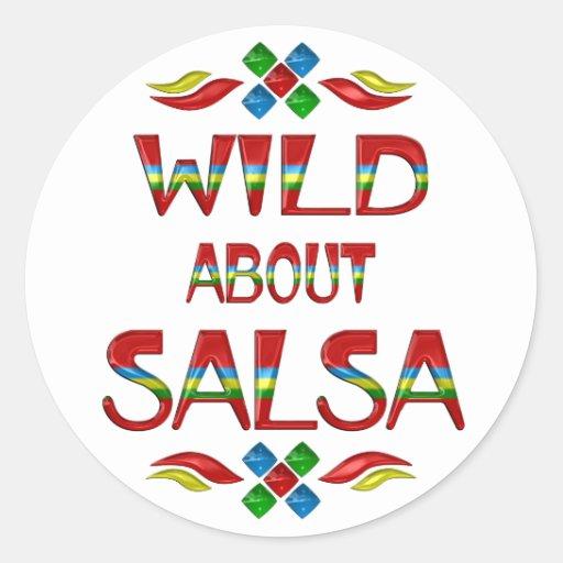 Wild About Salsa Stickers