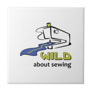 WILD ABOUT SEWING SMALL SQUARE TILE