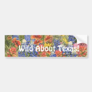 Wild About Texas! Bumper Sticker