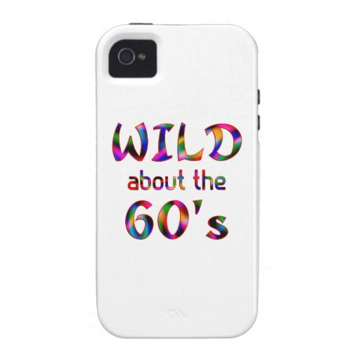 Wild About the 60s Case-Mate iPhone 4 Cases