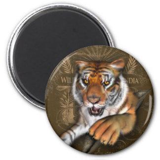 Wild About Tigers 6 Cm Round Magnet