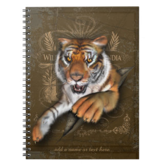 Wild About Tigers Illustration Notebook