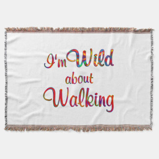 Wild about Walking Throw Blanket