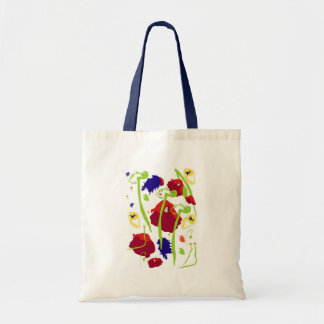 Wild abstract flowers bag