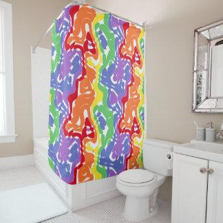 Wild Abstract Rainbow Pattern Shower Curtain
