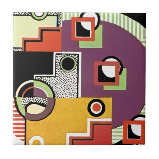 Wild Abstract Ceramic Tile