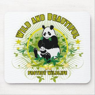 Wild and beautiful Panda Mouse Mats