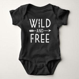 Wild and Free Baby Bodysuit