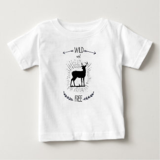 Wild and free, Deer print Baby T-Shirt