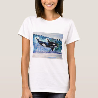 Wild and free Orca Watercolor Women'sT-Shirt T-Shirt