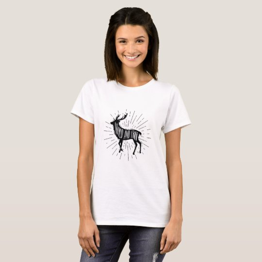 Wild and Free Outdoorsy Deer T-Shirt