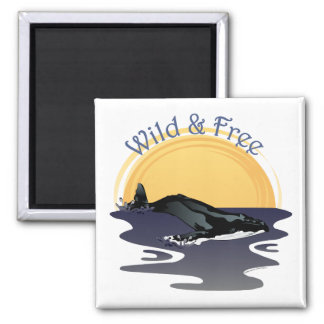 Wild and Free Square Magnet