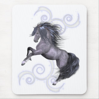 Wild and Free .. the gray stallion Mouse Pad