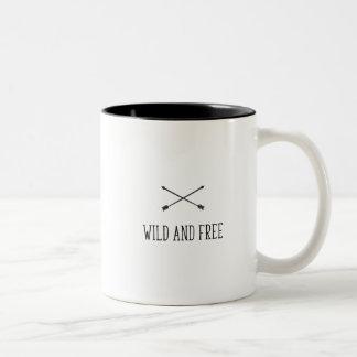 Wild and Free Two-Tone Coffee Mug