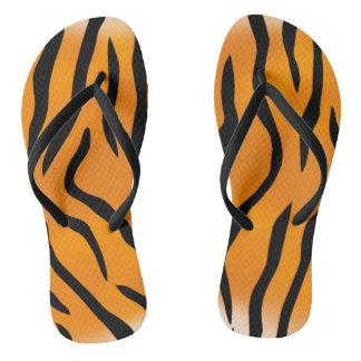 Wild and Natural Tiger Stripes Pattern Flip Flops