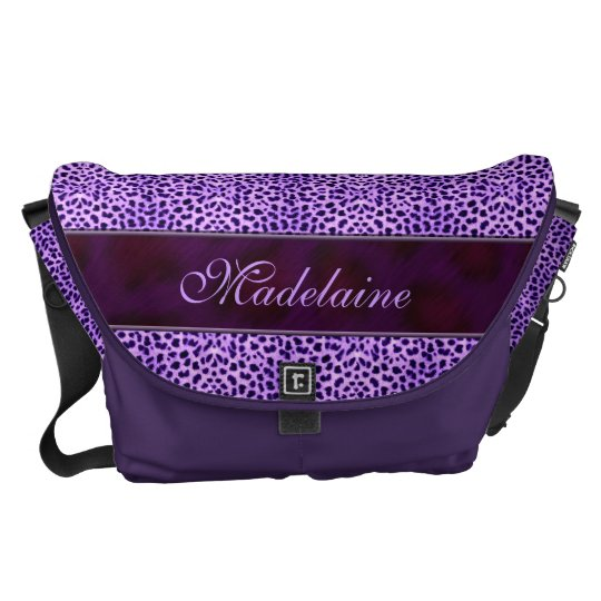 Wild and Purple Cheetah Print for Her Commuter Bags