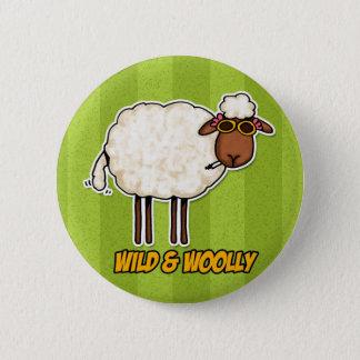 wild and woolly (smoking version) 6 cm round badge