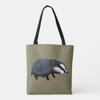 wild animal baby badger tote bag