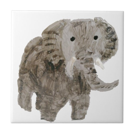 Wild Animal Elephant Art Small Square Tile