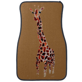 Wild Animal Giraffe Art Car Mat