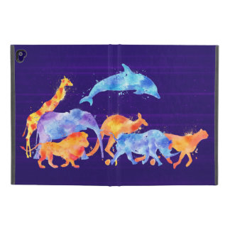 "Wild Animal Herd Colorful Watercolor iPad Pro 9.7"" Case"