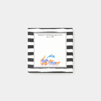 Wild Animal Herd Colorful Watercolor Post-it Notes
