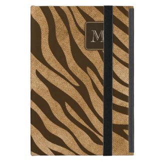 Wild Animal Jungle Print Monogram Initial Cover For iPad Mini