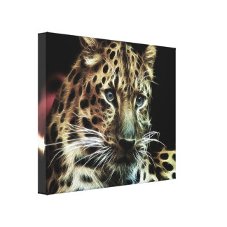 Wild Animal Leopard  Wrapped Canvas Gallery Wrap Canvas