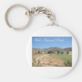 Wild Animal Park Basic Round Button Key Ring
