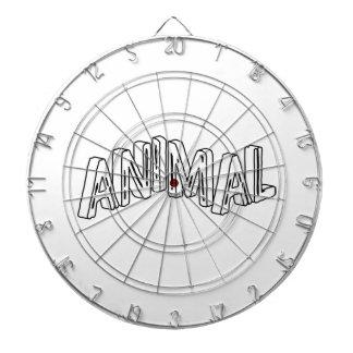 Wild Animal Print Dartboard With Darts
