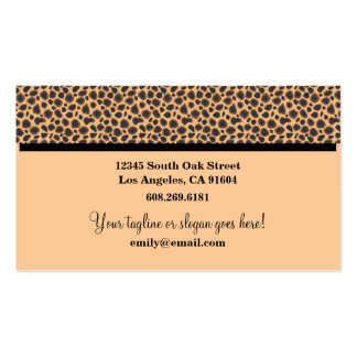 Wild Animal Print High Fashion Boutique Designers Business Card Template