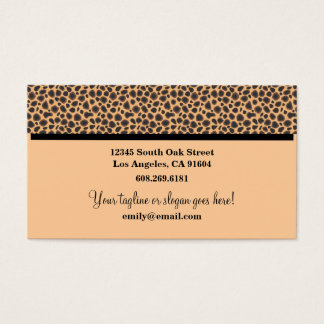 Wild Animal Print High Fashion Boutique Designers Business Card