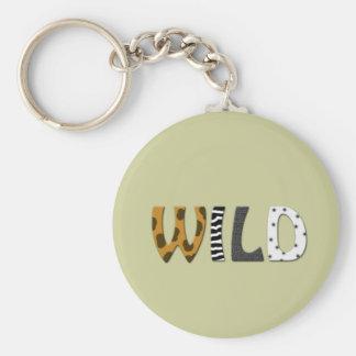 WILD animal print Key Ring