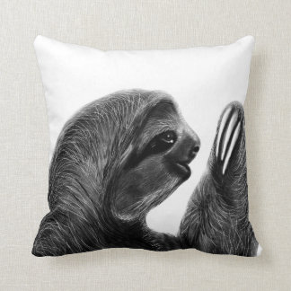 Wild Animal Rainforest South American Sloth Sketch Cushion