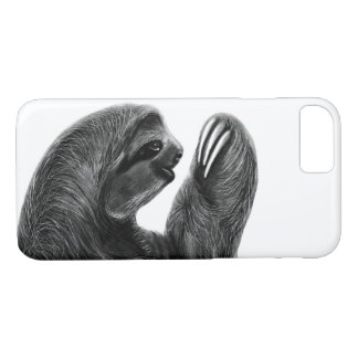 Wild Animal Rainforest South American Sloth Sketch iPhone 8/7 Case
