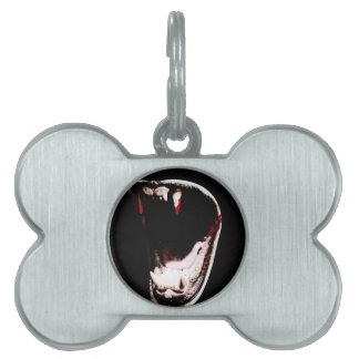 Wild Animal Teeth Fang Pet Tag