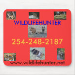 Wild animals being hunted mousemat