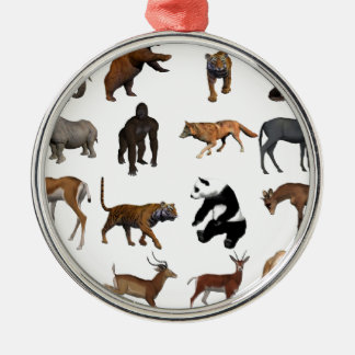Wild animals christmas ornament