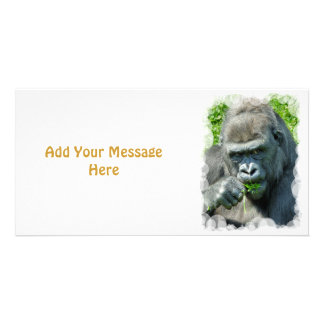 WILD ANIMALS - GORILLAS PERSONALISED PHOTO CARD