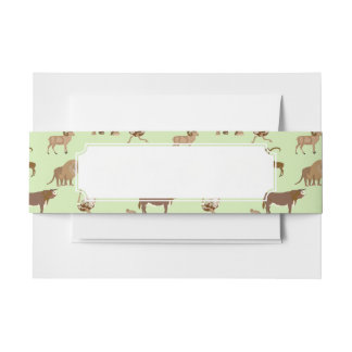 Wild animals invitation belly band