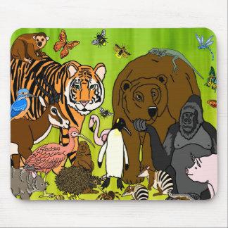 Wild Animals Mouse Mat