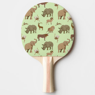 Wild animals ping pong paddle