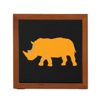 wild animals - rhino desk organiser