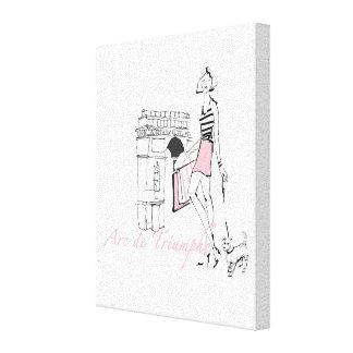 Wild Apple | Arc De Triomphe - Girly Sketch Canvas Print