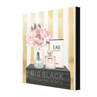 Wild Apple | Big Fashion Book - Striped Canvas Print