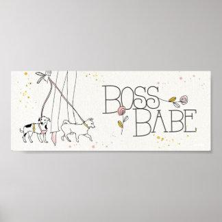 Wild Apple | Boss Babe - Modern Sketch Poster