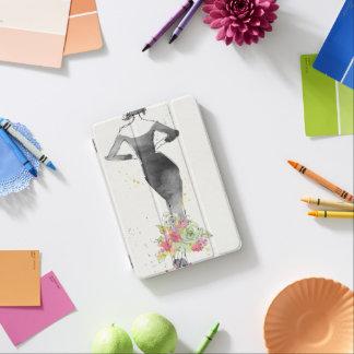Wild Apple | Chic Floral Dress Sketch iPad Mini Cover