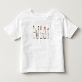 Wild Apple | Colorful Modern Lipstick Sketch Toddler T-Shirt