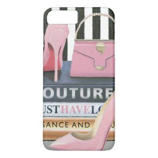 Wild Apple | Couture Stripes - Shoes & Bag iPhone 8 Plus/7 Plus Case